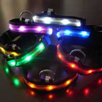 Size XL Nylon Safety Flashing Glow Light LED Pet Dog Collar