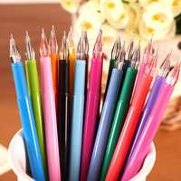 Candy Color Water Color Pen Diamond Head 0.5mm Multicolor Gel Pen