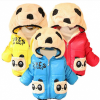 Baby Cartoon Panda Hooded Cotton-padded Jackets Outerwear