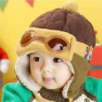 4 Colors Baby Toddler Warm Pilot Aviator Beanie Hat Cap