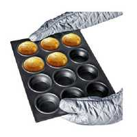 12 Holes Metal Cup Cake Mould Ovenware Pan Bake Tool Multifunction Baking Tools