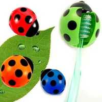 Creative Covered Coccinella Suction Toothbrush Holder