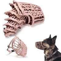 No Bite Bark Adjustable Plastic Basket Muzzle Mouth Mask 7 Sizes