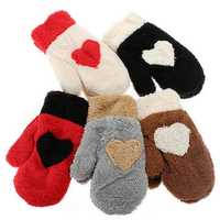 Zanzea Christmas Lovely Full finger plush Style Snow Mittens Gloves