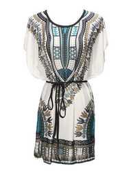 Womens Summer Batwing Sleeve Short Mini Dresses