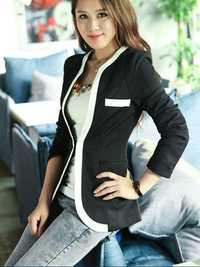 Zanzea Elegant Lady Zipper Pockets Slim Long Sleeve Suit Blazer