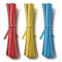 20Pcs Polka Dot Twist Ties Gift Packing Wrap Bag Decoration