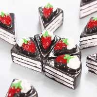 10pcs Mini Triangle Cake Resin DIY Craft Scrapbook Decoration Baby