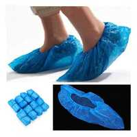 100Pcs Disposable Plastic Thick Outdoor Rainy Day Carpet Cleaning Shoe Cover