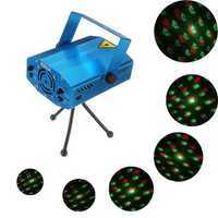 6 in 1 Mini Voice Control R&G Laser Stage Light Projector DJ Party