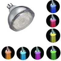 LED Multi-color RGB Automatic Temperature Sensor Bath Top Shower