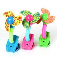Mini Safety Clip-on Fan For Baby Prams Strollers Gyms 3 Colors For Cooling