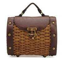Women Staw Woven Shoulder Bag Beach Bag Handbag