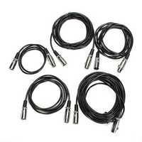 XLR 3Pin Mic Microphone Audio Male To Female Shielded Cable Cord