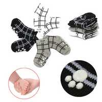 Unisex Infant Children Babys Plaid Sport Casual Anti-slip Cotton Socks