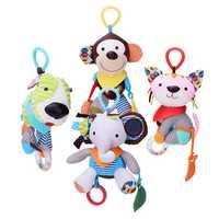 Baby Kids Lovely Animals Plush Bed Hanging Lathe Crib Car Hanging Rattles Stroller Toys