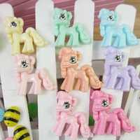 Cute Kawaii Little Cartoon Flat Back Resin Pony DIY Decoration