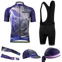 Men's 3D Cycling Bicycle Clothing Bike Cloth Bib Shorts Shirt Jersey