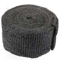 5cm x 5m Black Exhaust Manifold Header Down Pipe Heat Wrap Front Pipe