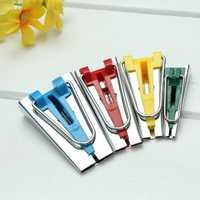 4 Fabric Bias Tape Maker Foot Awl Sewing Tools 6mm/12mm/18mm/25mm