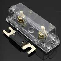 Car Fuse Holder and Free ANL Fuse 0 Gauge Cable Inline Clear