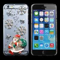 Christmas Gift Handmade Bling Santa Claus Case Cover For iPhone 6