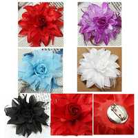 Bridal Wedding Wrist Feather Simulation Flower Headdress Corsage