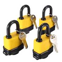 4pcs 40mm Keyed Alike Waterproof Gate Door Padlock with 8 Same Key
