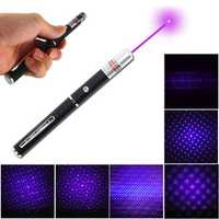 XANES PL01 405nm Purple Light Laser Pointer Pen with Star Cap Head