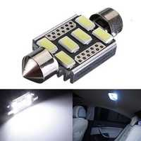6-SMD 6418 C5W Error Free LED Bulbs For Car License Plate Lights