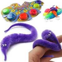 Magic Twisty Fuzzy Worm Wiggle Moving Sea Horse Kids Trick Toy