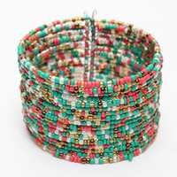 Bohemia Handmade Multilayer Circle Charm Beads Bracelet Bangle