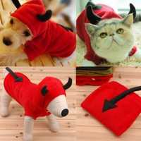 Pet Dog Cat Fancy Devil Costumes Puppy Coat Hoodie Jumpsuit