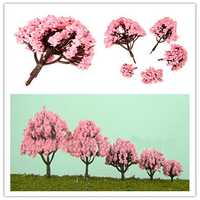 5 Size Pink Cherry Trees Fairy Garden Ornament Plant Pot Decor
