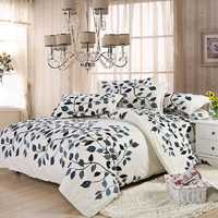 4pcs Suit Polyester Fiber Fastness Simple Style Bedding Sets
