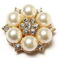 1pc Pearl Rhinestone Camellia Flower DIY Decoration Jewelry