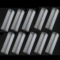 10pcs 18650 Plastic Battery Tubes 6cm For 18650 Flashlight