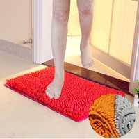 60*40cm Non Slip Bathroom Mat Washable Microfiber Chenille Soft Rug