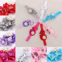 Flower Pearl Baby Headbrand Girl Toddler Infant Hair Band Kids Headwear Accessory