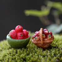Mini Fruits Basket Moss Micro Landscape Garden DIY Decoration