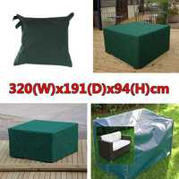 320cmx191x94cm Waterproof Garden Outdoor Furniture Dust Cover Table Shelter
