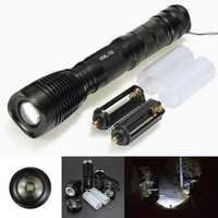 T6 2000lumens 5 Modes Long Range Zoomable LED Flashlightt