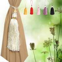 Luxury Glass Crystal Tassels Curtain Tie Back Buckle Drapery Holder Home Decor