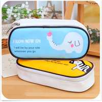 Stationery Pencil Case Pen Cosmetic Makeup Travel Zipper Purse Handbags Bag