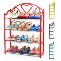 4 Tier Stack Shoes Display Storage Organizer Rack Stand Shelf Holder Unit Shelves