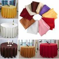 160cm Polyester Absorbent Round Tablecloth For Hotel Restaurant Wedding Decor