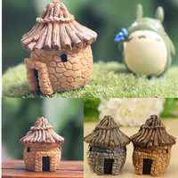 Resin Cottage House Micro Landscape Decorations Garden DIY Decor