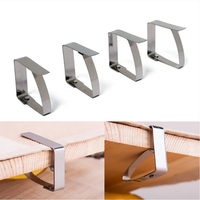 4pcs Stainless Steel Tablecloth Clips Table Cover Holder For Party Wedding
