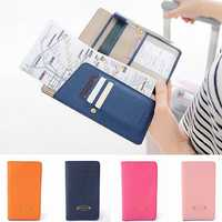 Journey Travel Passport Holder Long Leather Wallet Purse ID Card Organizer Cover