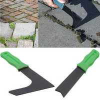 2pcs Garden Patio Weed Moss Weeder Groove Clean Remover Tools